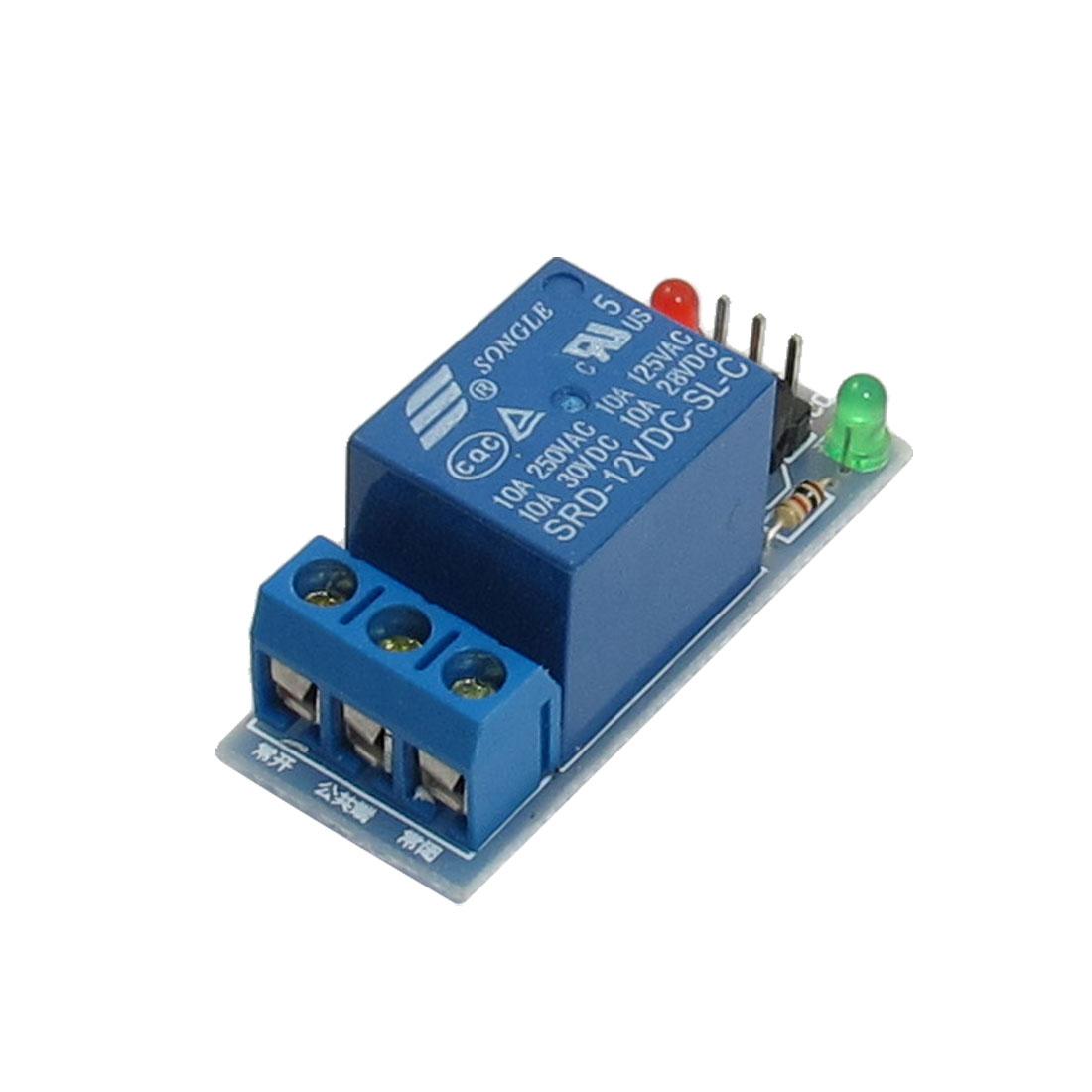 DC 12V Coil 10A Power 1 Channel Relay Module 250V/125VAC 30V/28VDC
