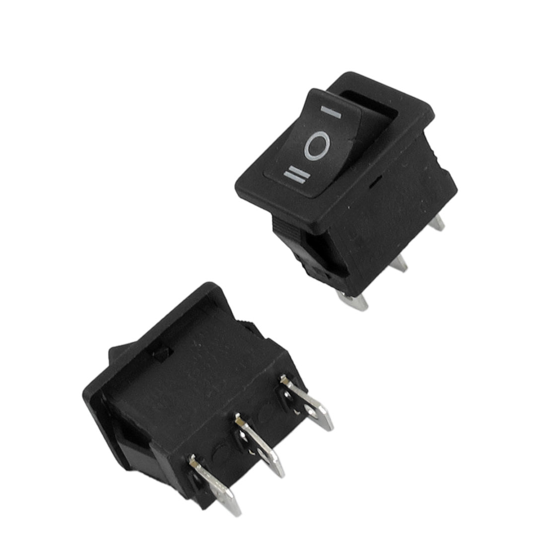 2 Pcs SPDT ON-OFF-ON Snap in Rocker Boat Switch AC 250V 6A/1A AC 125V 10A