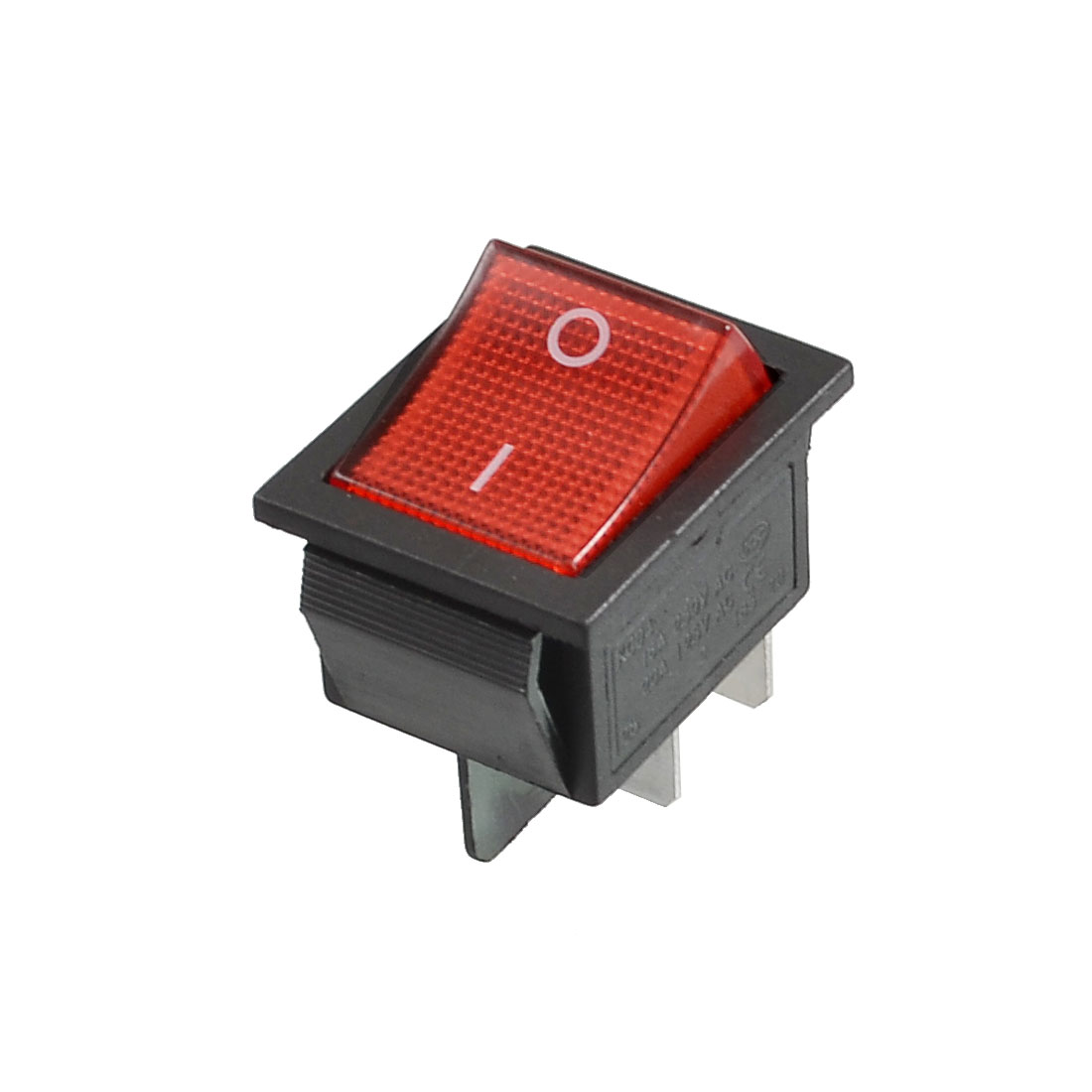 4 Terminals Snap in ON-OFF DPST AC 250V/16A AC 125V/20A Boat Switch