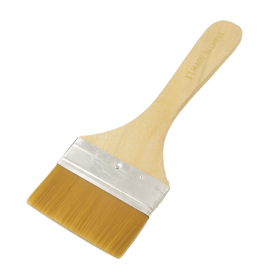 "Paints Brown 2.9"" Wide Faux Fur Head Wooden Handle Painting Brush"