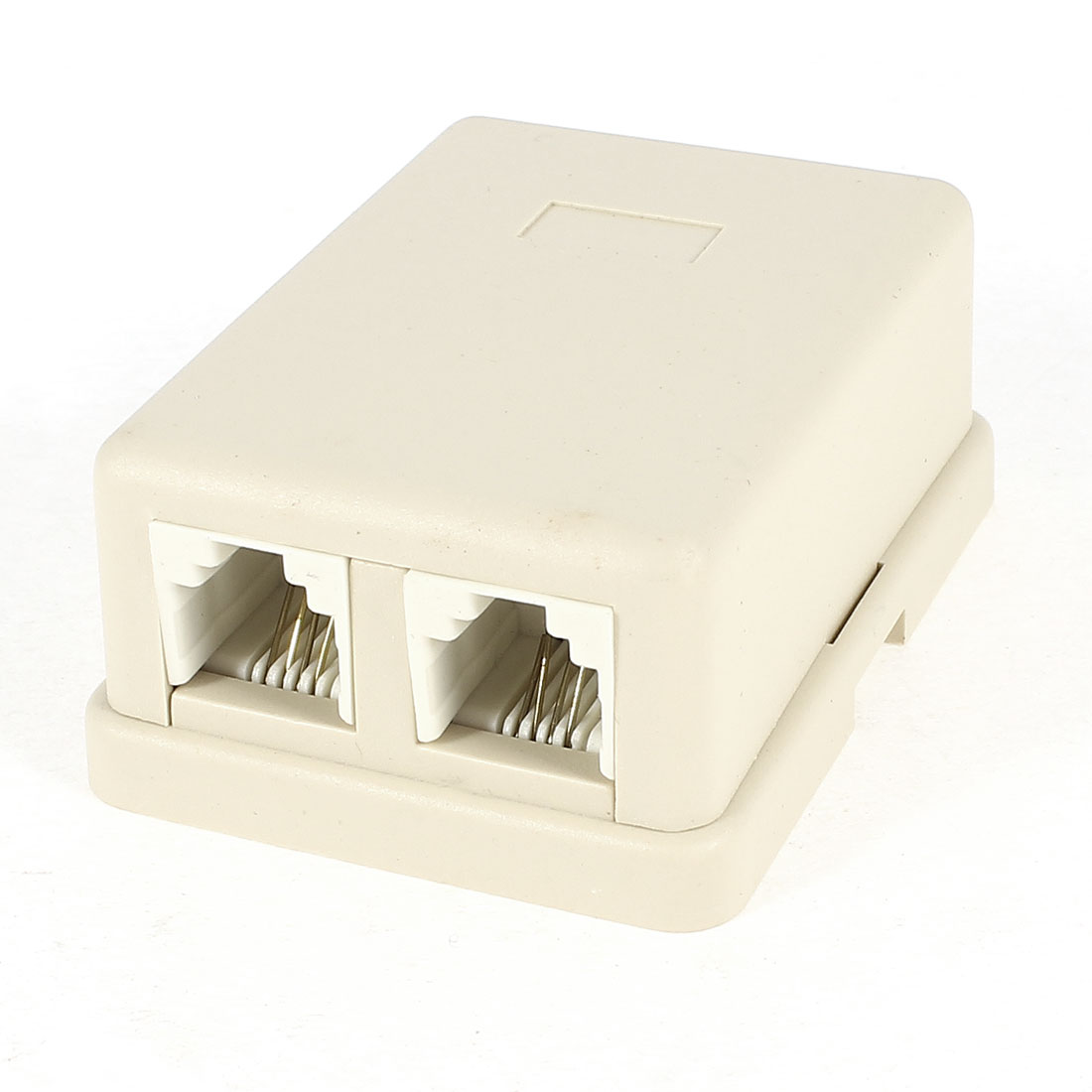 RJ11 6P4C 2 Female Jack Telephone Modular Splitter Joiner Gray
