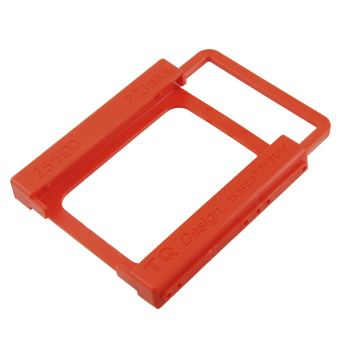 "Red Plastic 2.5"" HDD Mounting Adapter Bracket Support Holder"