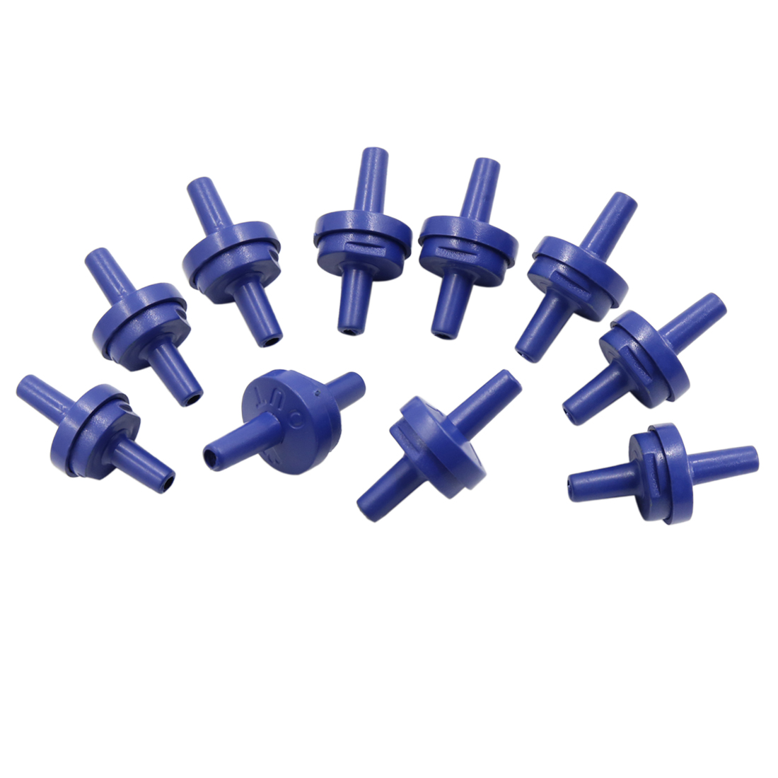 Sporting Plastic Check Valves for Fish Tank Aquarium Air Pump Purple 10 Pcs