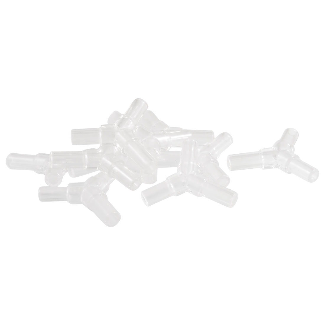 Aquarium Plastic Y Shaped Design Airline Air Tubing Connectors Clear 10 Pcs