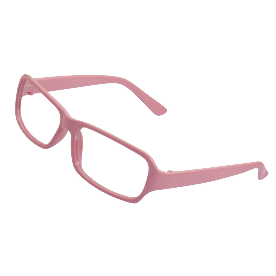 Lady Ladies Pink Plastic Square Rim Eyeglasses Glasses Frame