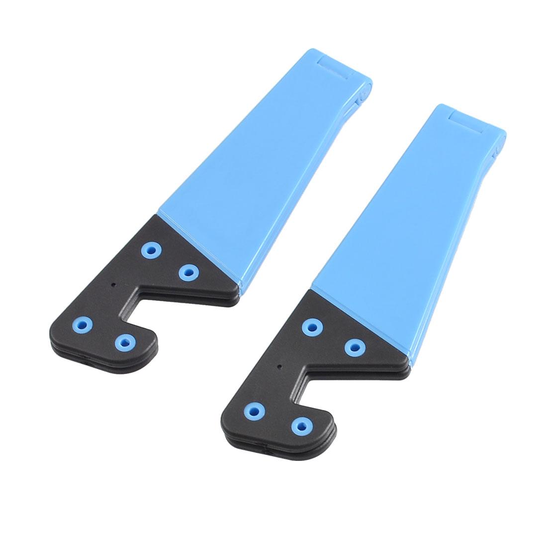 2 Pcs Adjustable Plastic Bracket Holder Black Blue for Phone