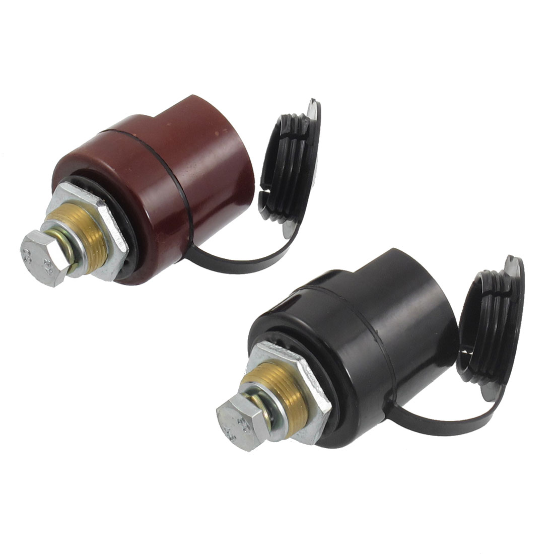 2 Pcs Covered Welding Cable Joint Quick Connectors 120mm2