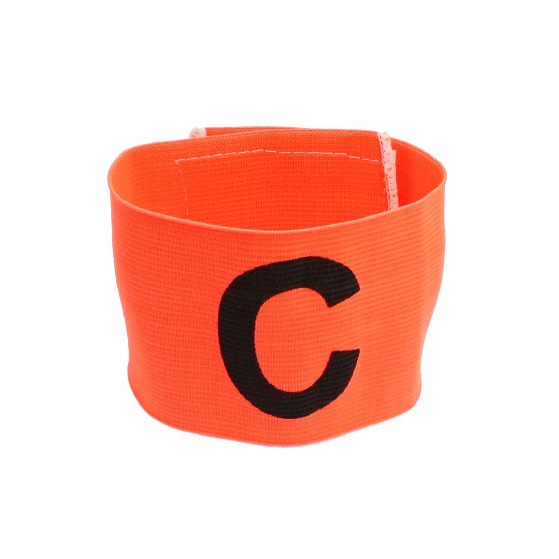 Orange Nylon Hook Loop Fastener C Pattern Badge Band Team Armband