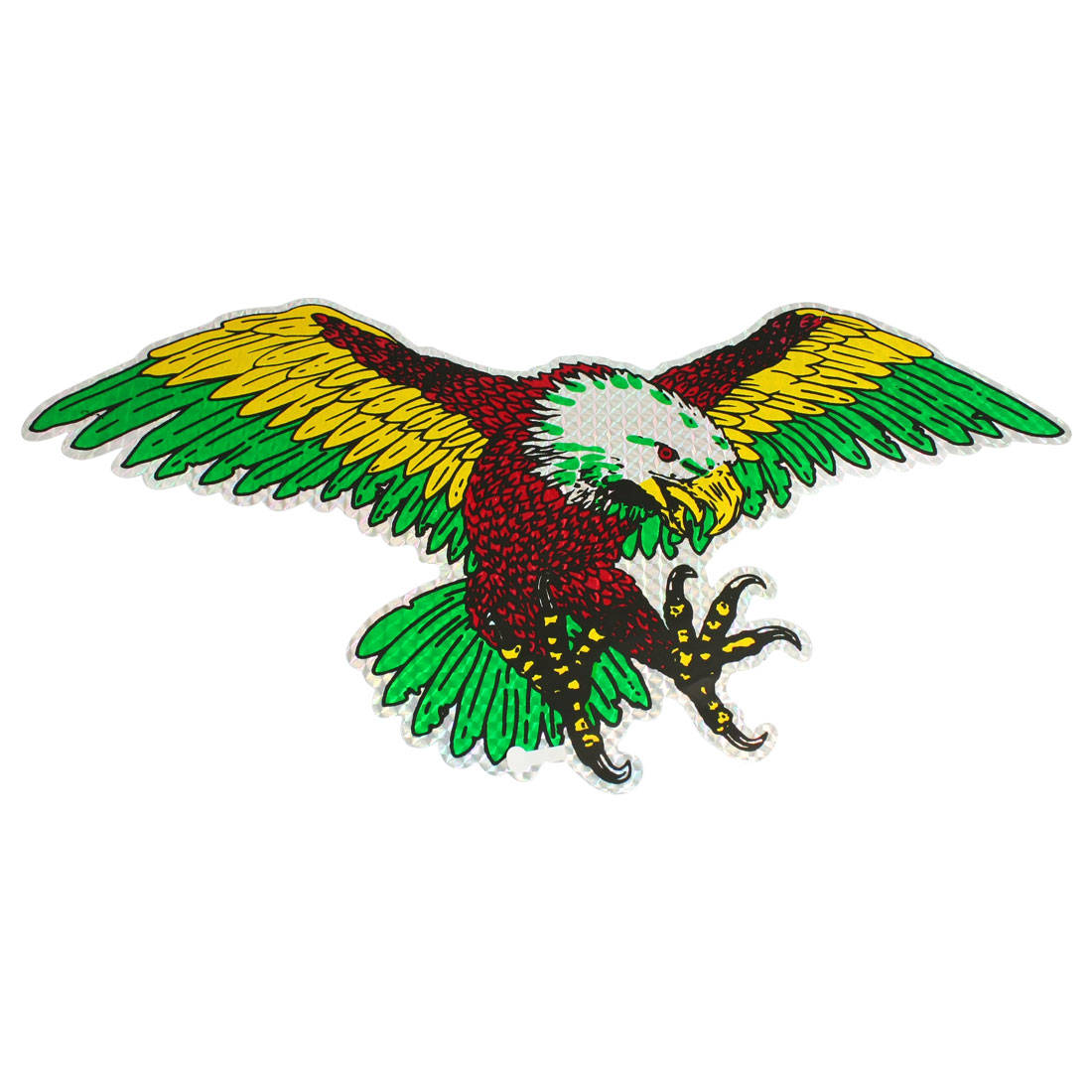 "Colorful Eagle Bird Design Blink Decal Decoration Car Sticker 17.5"" x 8.7"""
