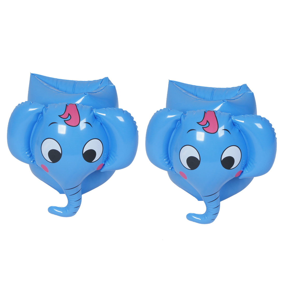 Pair Sky Blue Elephant Shaped Baby Inflatable Swim Arm Band for Children