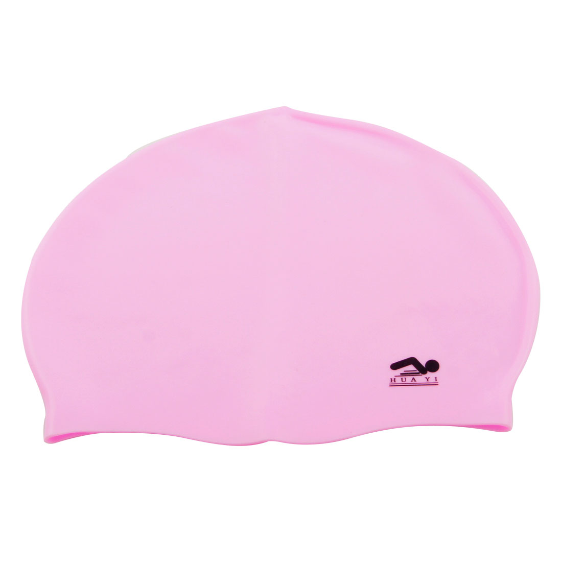 Adult Soft Flexible Silicone Nonslip Sports Pink Swimming Cap