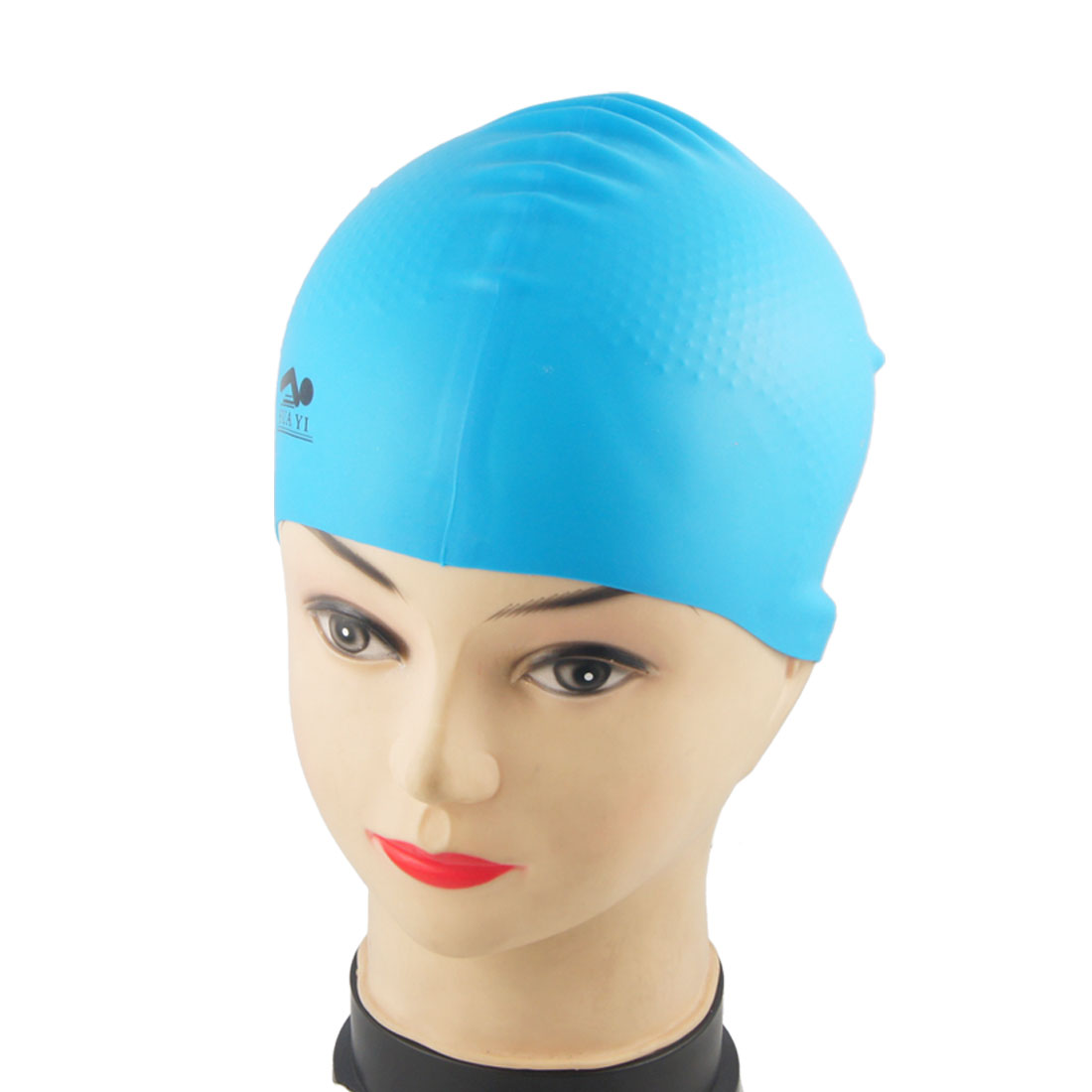 Soft Silicone Nonslip Sports Sky Blue Swimming Cap for Adult