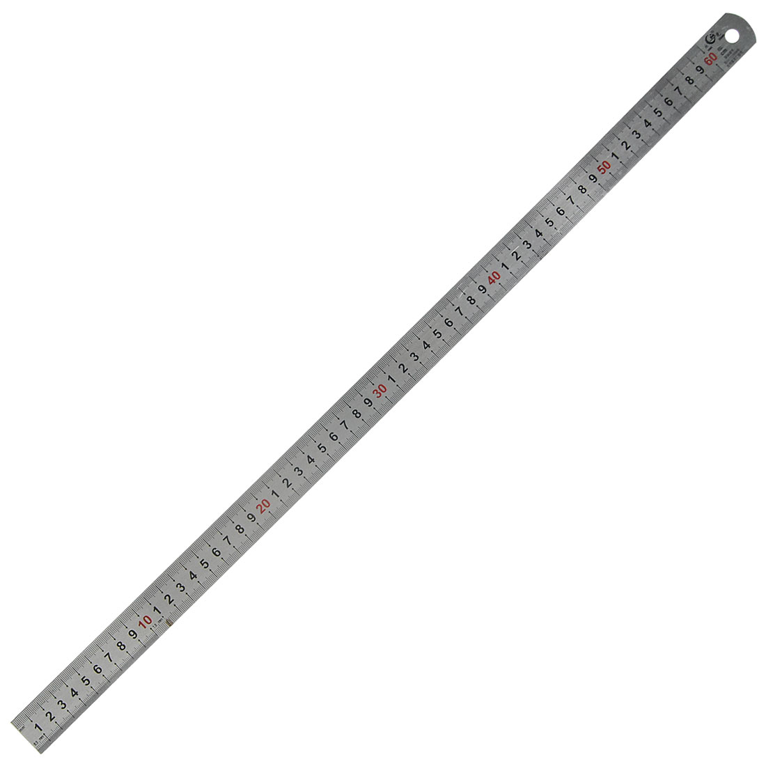 Carpentry Double Side 60cm Stainless Steel Straight Ruler Measuring Tool