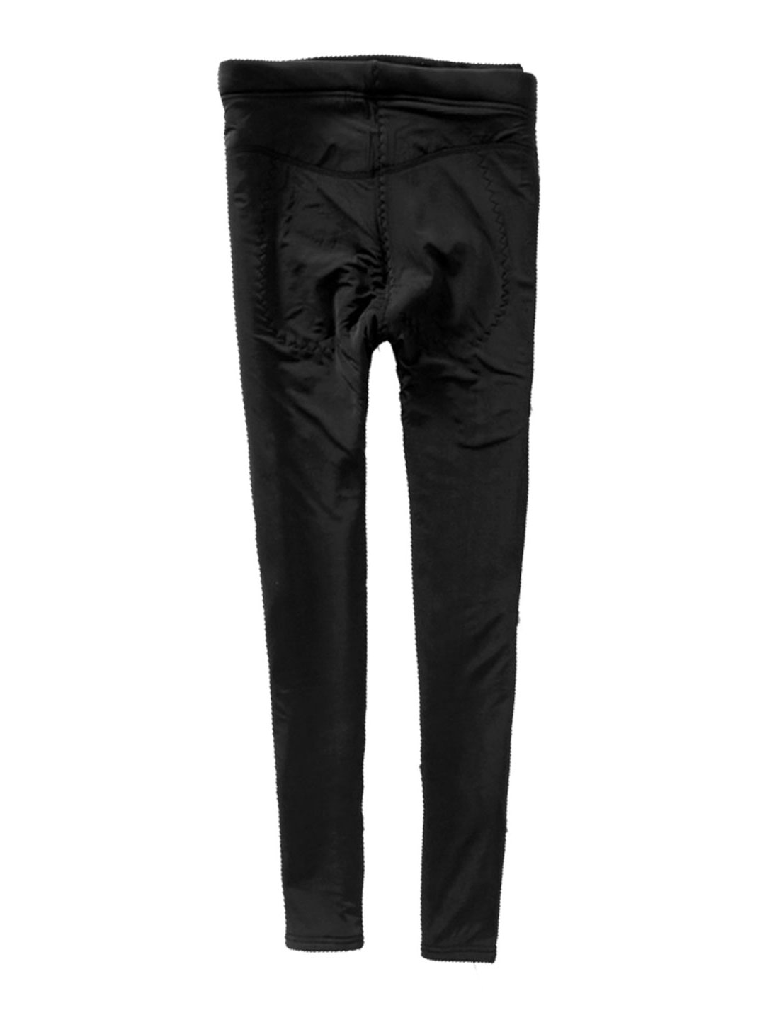 Mathernity Drawstring Button Adjust Waist Fleece Lining Black Leggings M