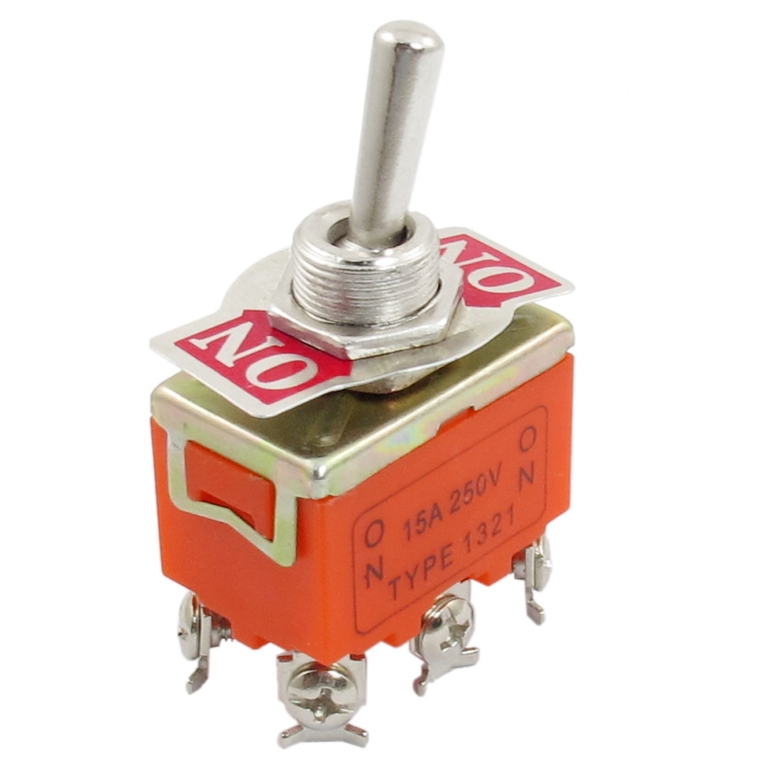 DPDT 6 Screw Terminals ON/ON 2 Position Toggle Switch AC 250V 15A