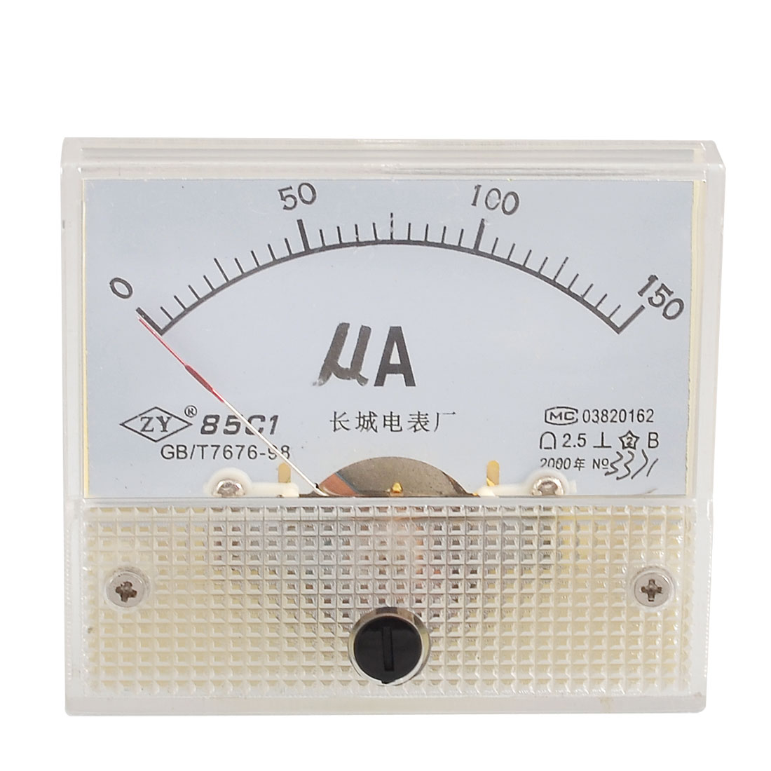 Screw Mounted DC 0-150UA Scale Range Microampere Panel Meter