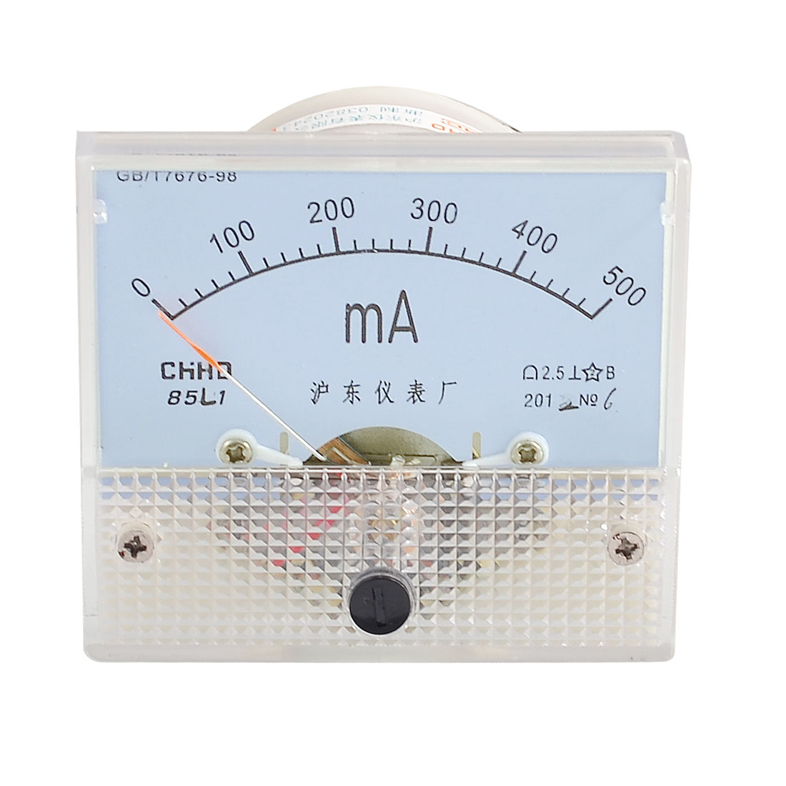 Class 2.5 Accuracy Analog AC 0-500MA Scale Milliampere Panel Meter