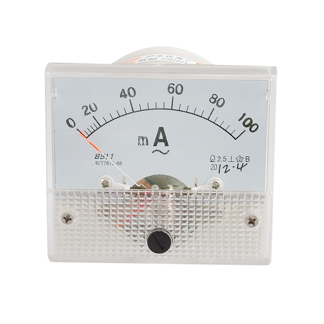 Analog AC 0-100MA Scale Range Milliampere Ammeter Panel Meter