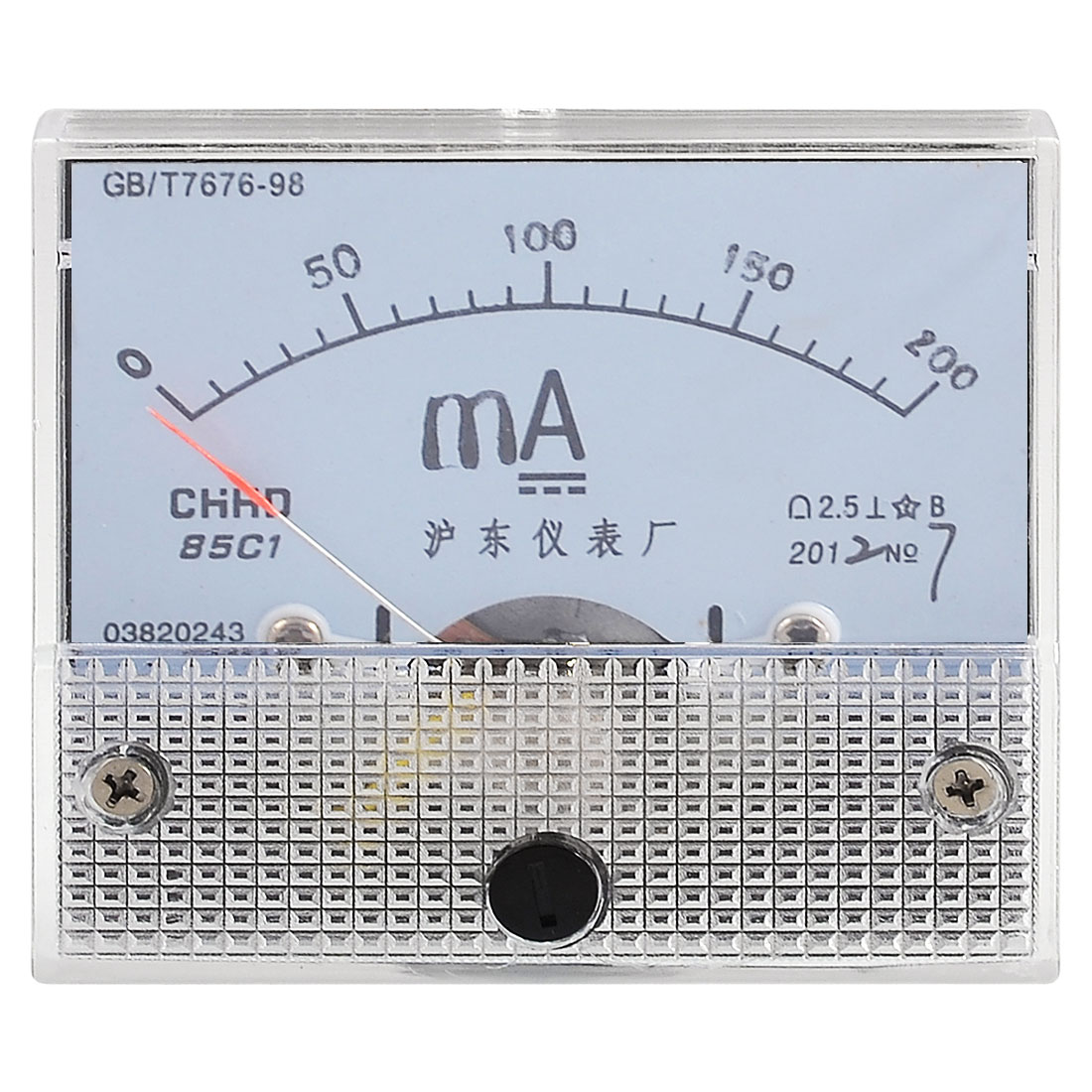 Screw Mounted DC 0-200MA Current Measuring Milliampere Panel Meter