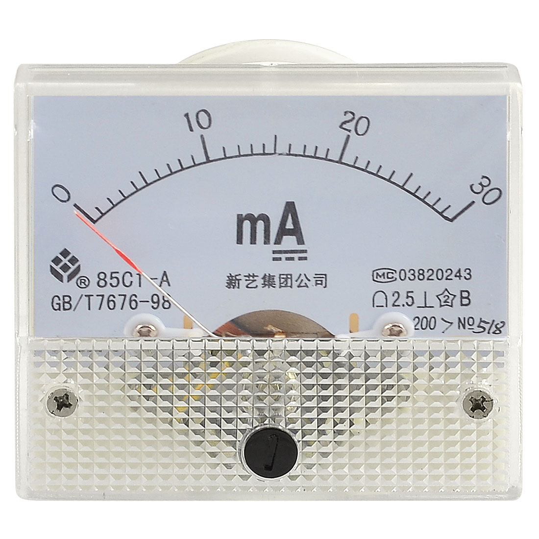 Screw Mounted DC 0-30MA Scale Range Milli Ampere Panel Meter Gauge