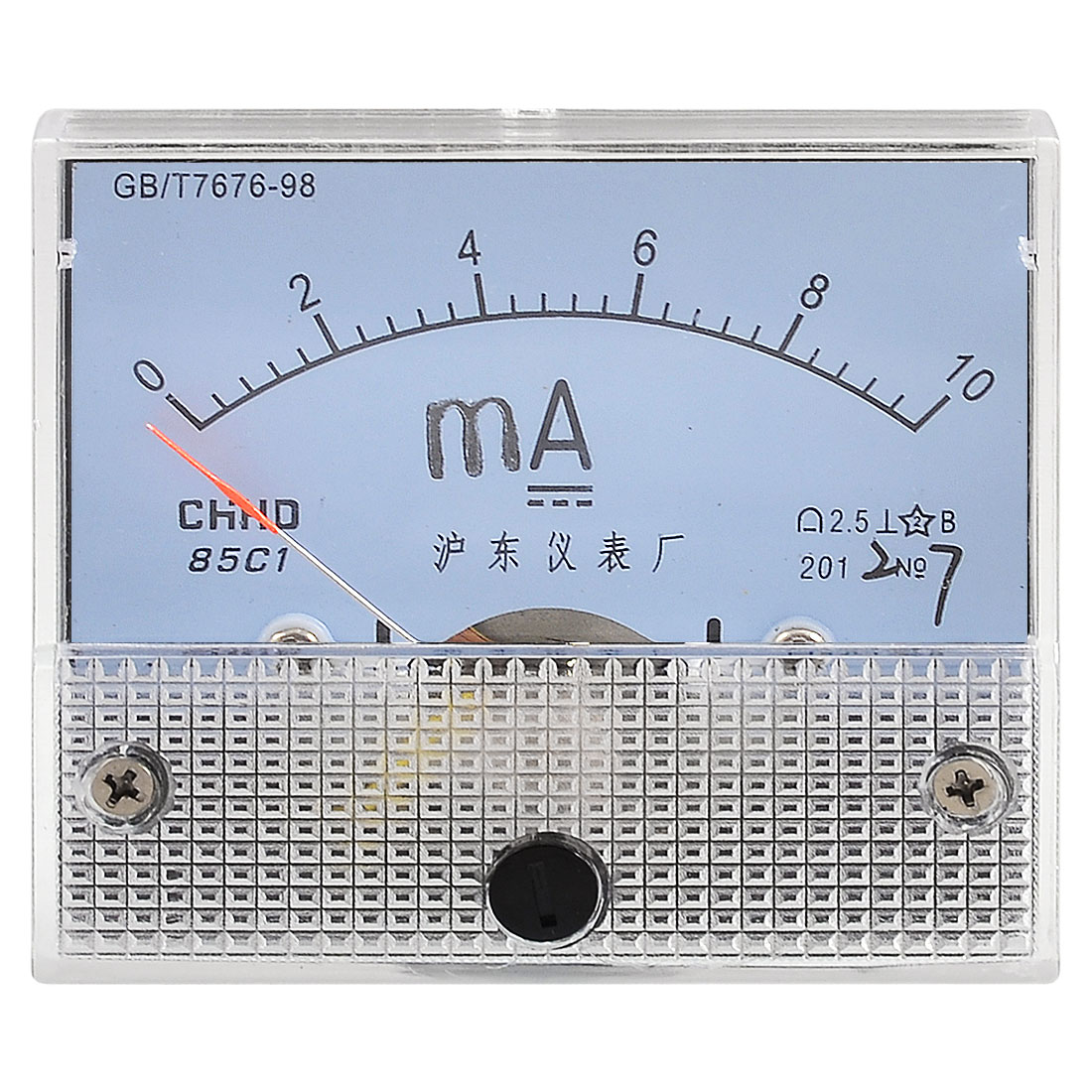 Plastic Shell Current Test DC 0-10MA Scale Range Milliamp Panel Meter