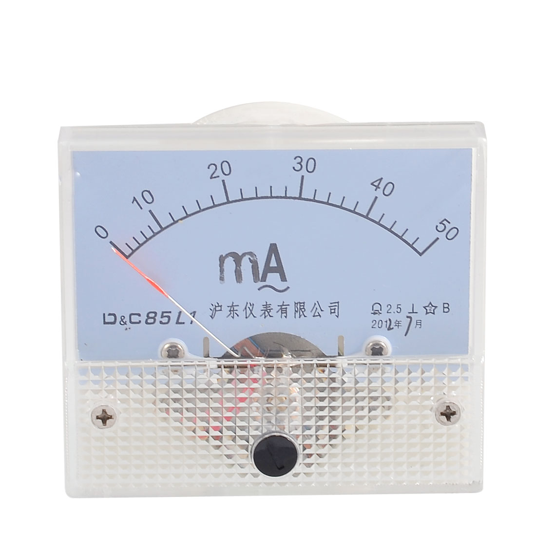 Screw Mounted Analog AC 0-50MA Scale Range Milliamp Panel Meter