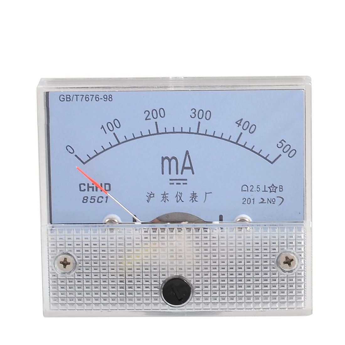 Screw Mounted DC 0-500MA Scale Range Milliampere Meter Panel