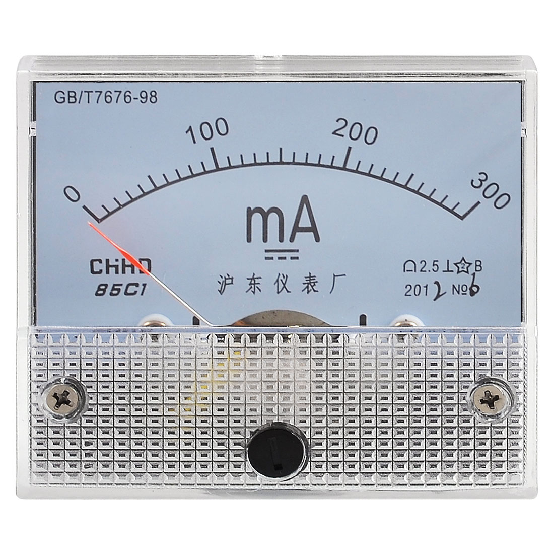DC 0-300MA Scale Range Analog Current Testing Milliampere Panel Meter