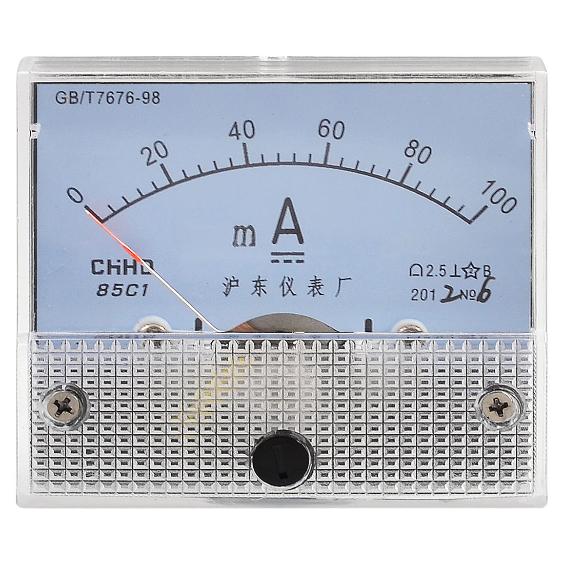 Current Measuring DC 0-100MA Scale Milli Ampere Ammeter Panel Meter