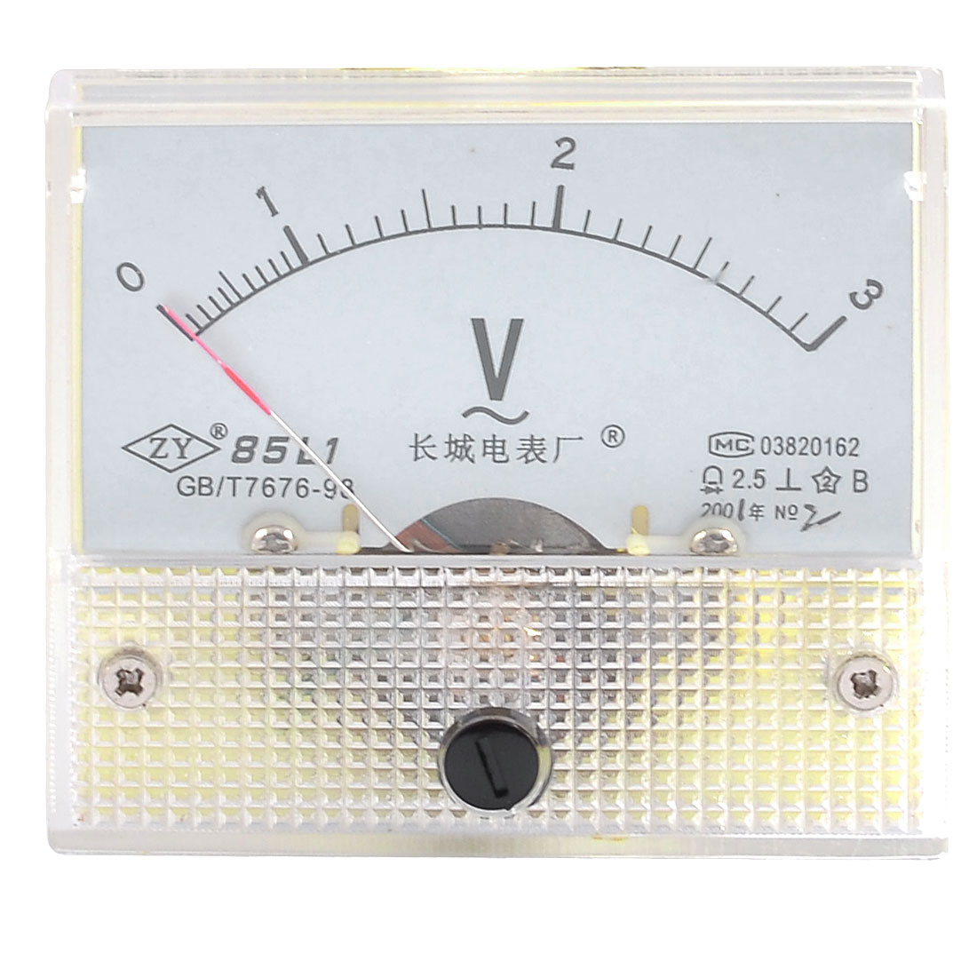 Class 2.5 Accuracy AC 0-3V Scale Range Analog Voltmeter Panel Meter