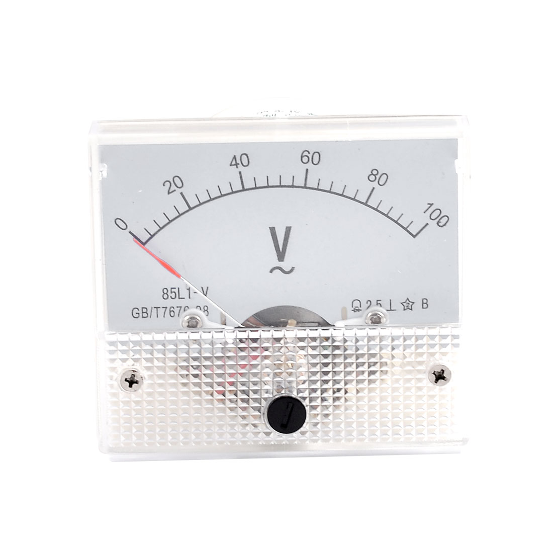 Screw Mounted Class 2.5 Accuracy AC 0-100V Analog Voltage Panel Meter