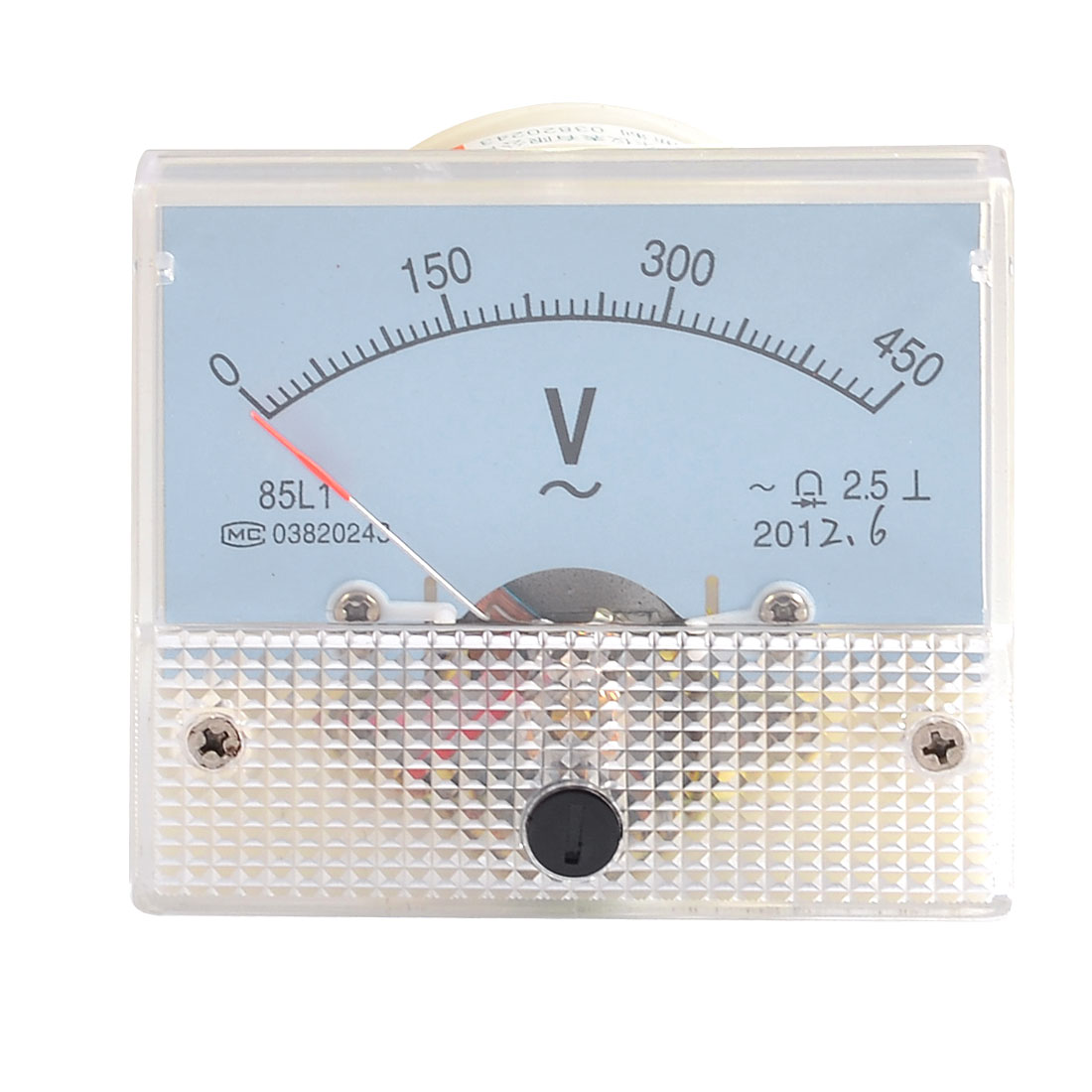Screw Mounted Class 2.5 Accuracy Analog AC 450V Voltage Meter Panel