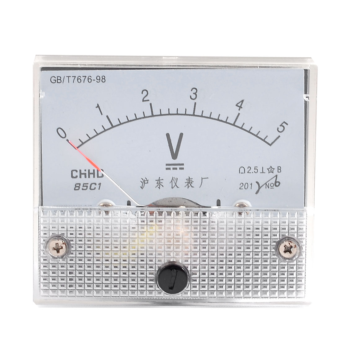 Class 2.5 Accuracy Voltage Measuring DC 5V Analog Voltmeter Panel