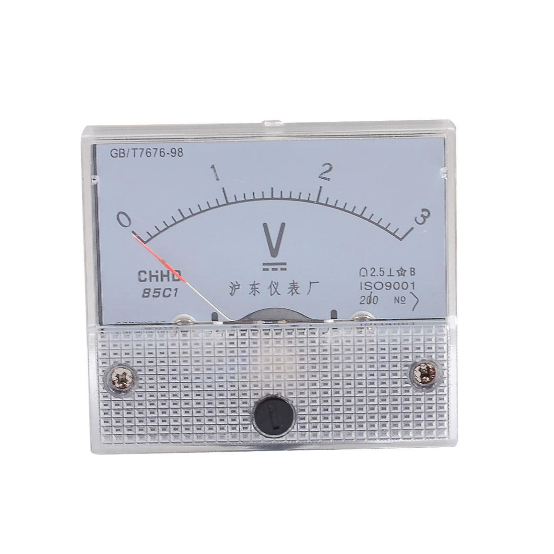 Class 2.5 Accuracy Analog DC 0-3V Scale Electric Voltage Meter Panel