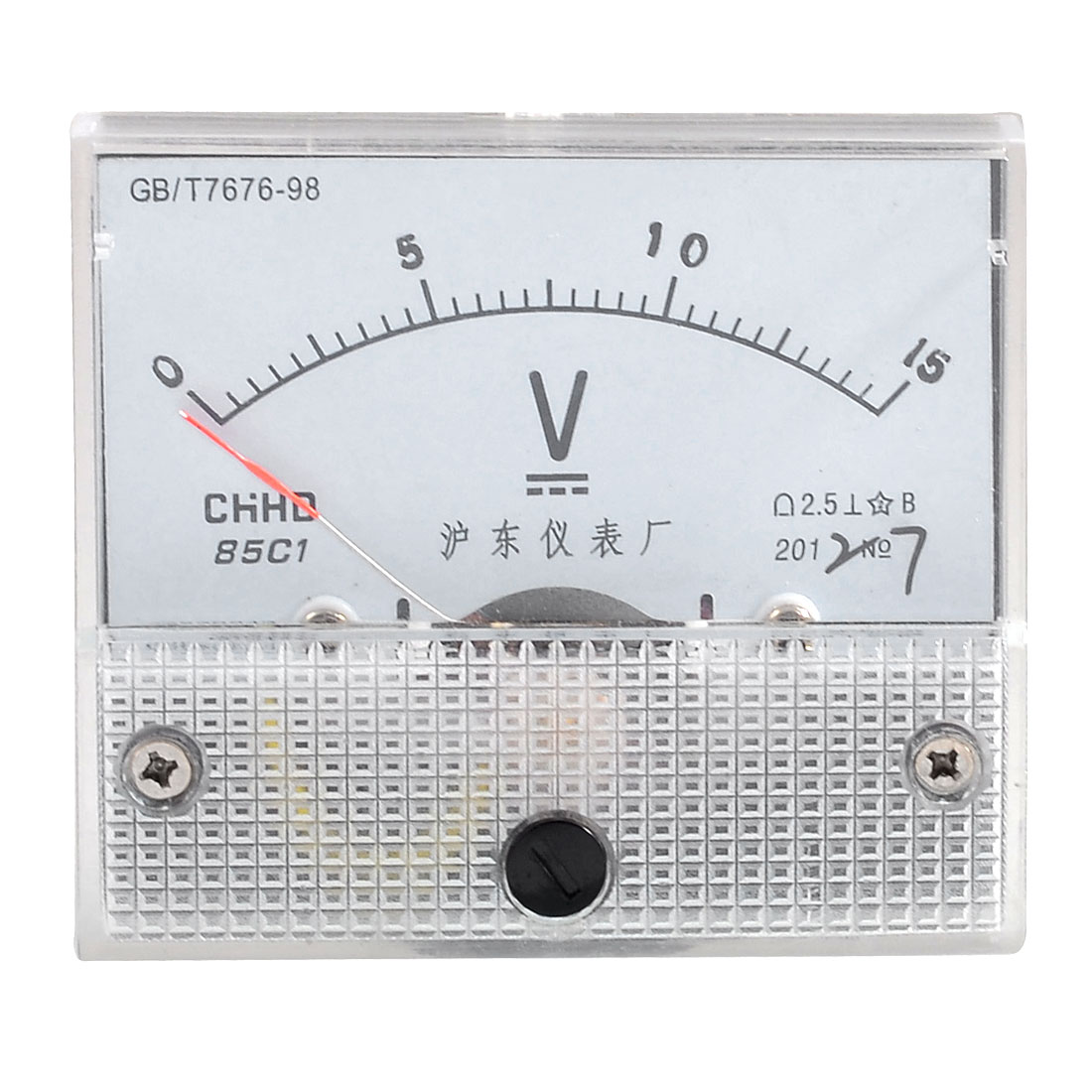 Screw Mounted Class 2.5 Accuracy Analog DC Volt Meter Panel 0-15V