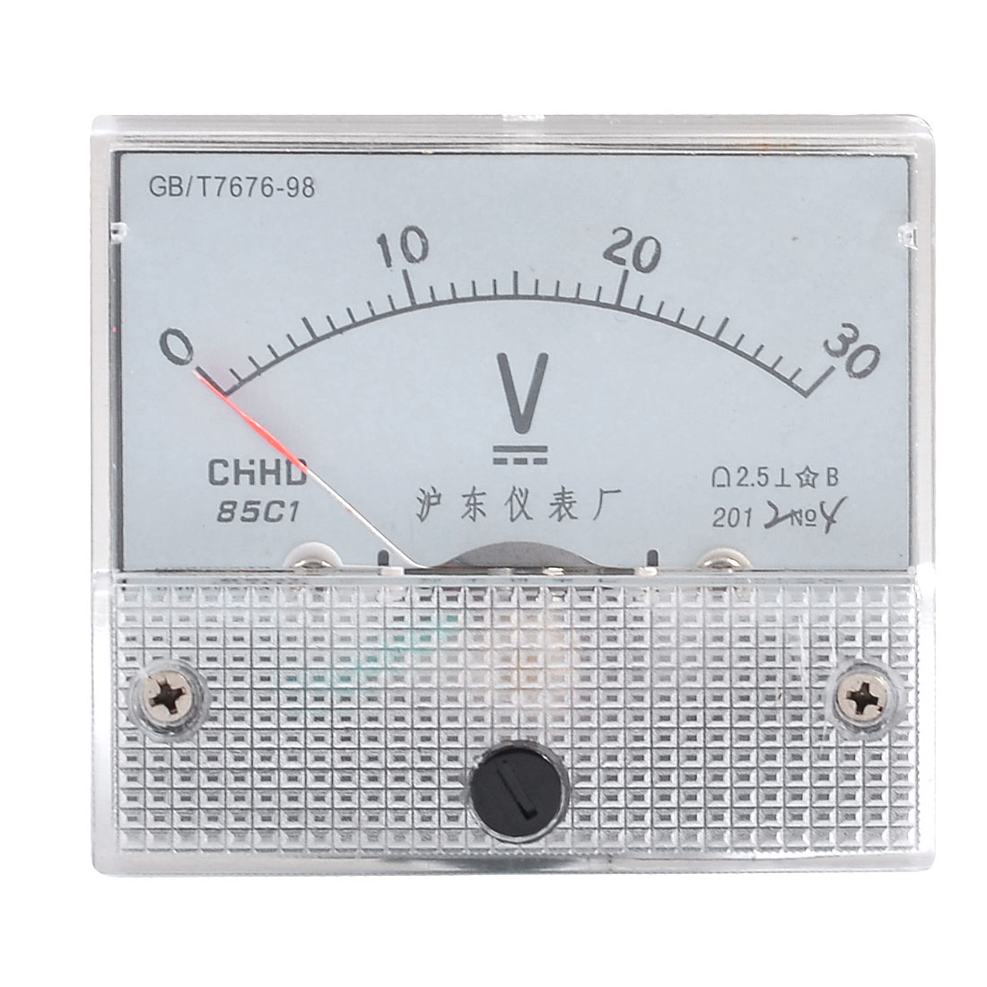 Analog DC 0-30V Scale Class 2.5 Accuracy Voltage Meter Gauge