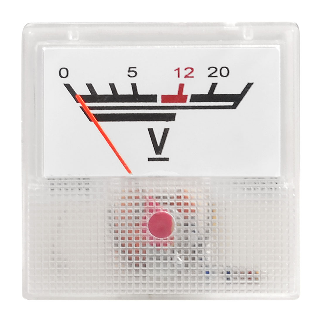 Plastic Housing 91C16 DC 0-20V Scale Range Analog Voltmeter Panel Meter