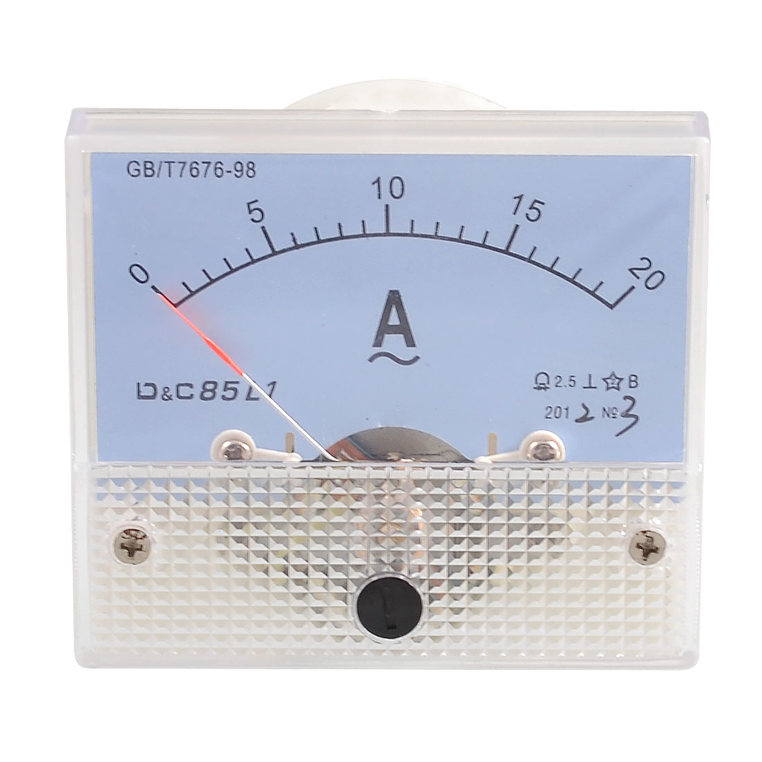 Class 2.5 Accuracy Analog AC 0-20A Scale Range Amperemeter Panel Meter