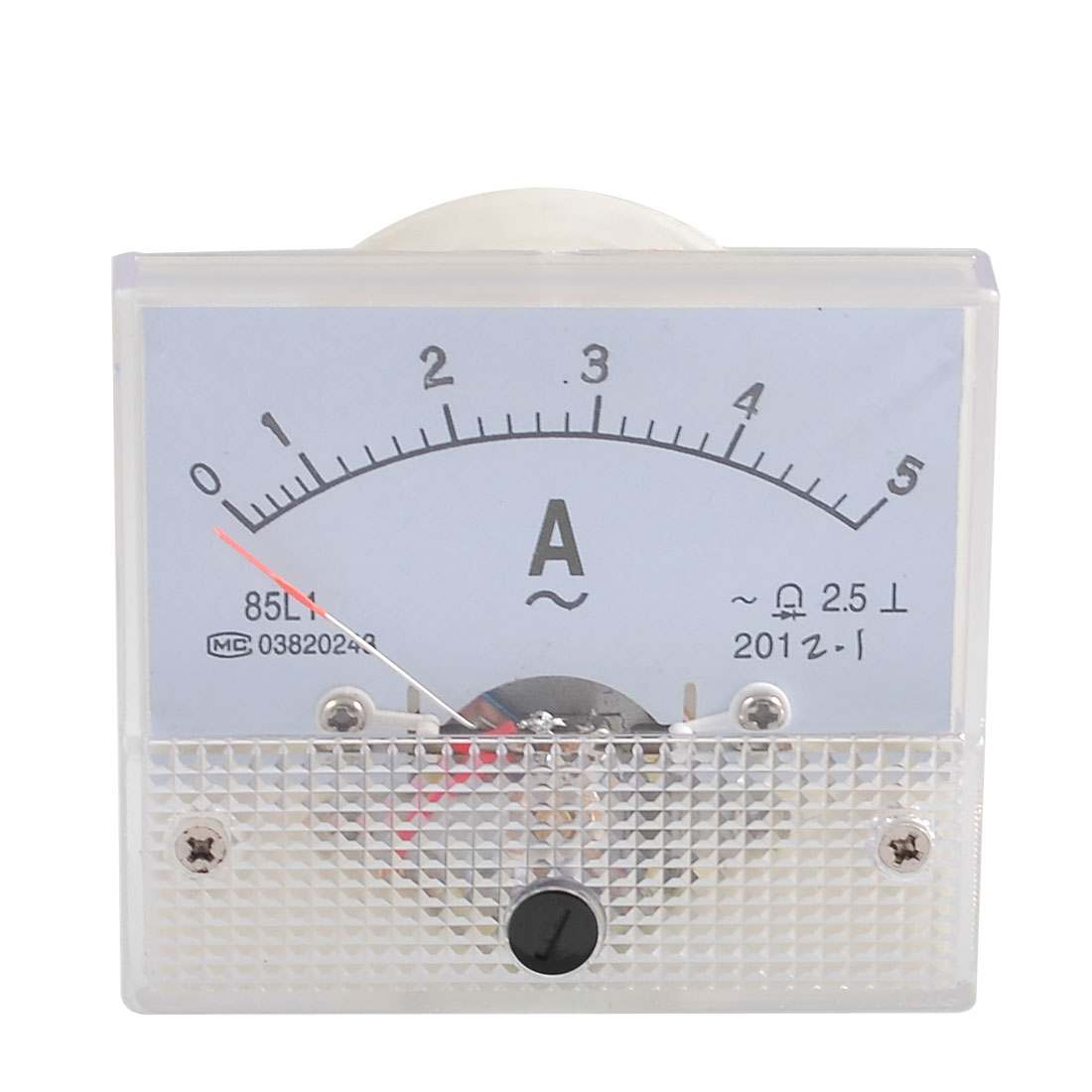Class 2.5 Accuracy Analog AC 0-5A Scale Range Ammeter Meter Panel