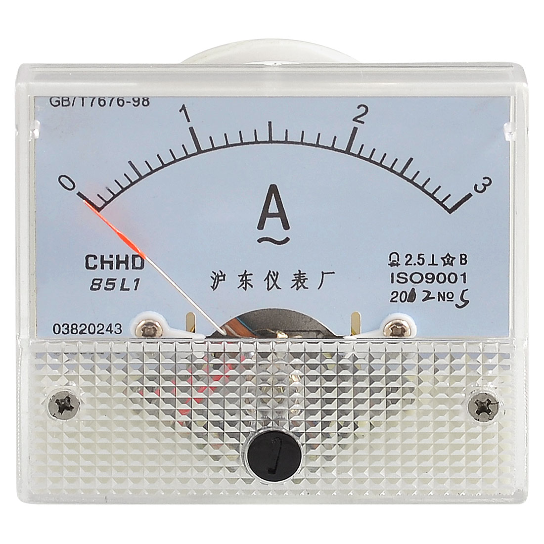 Current Measuring Analog AC 0-3A Scale Range Ampere Panel Meter