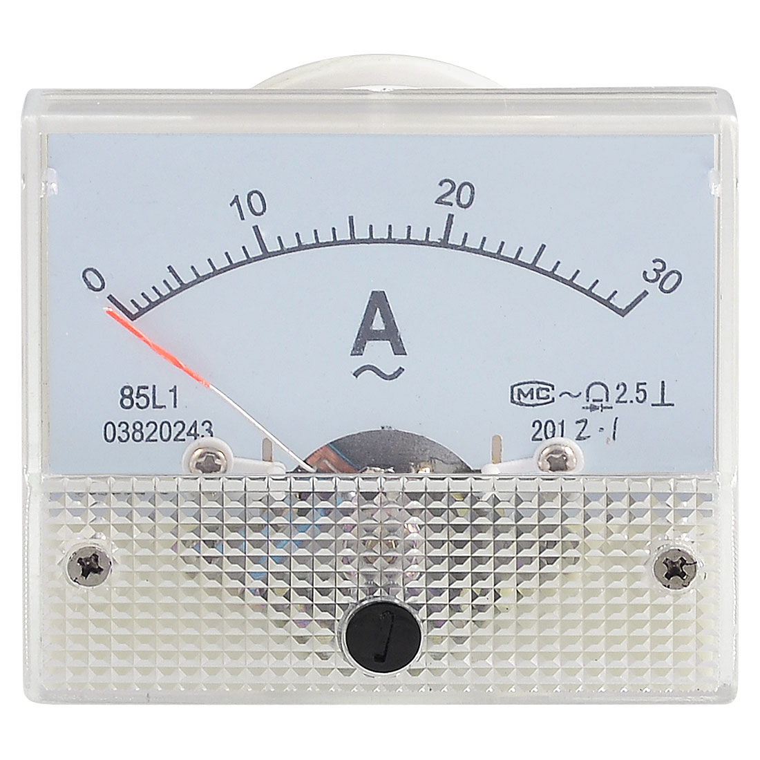 Plastic Housing Analog AC 0-30A Scale Range Ampere Meter Panel