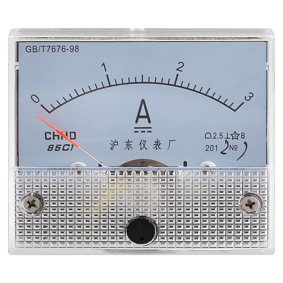 Class 2.5 Accuracy DC 0-3A Scale Analog Ampere Current Panel Meter