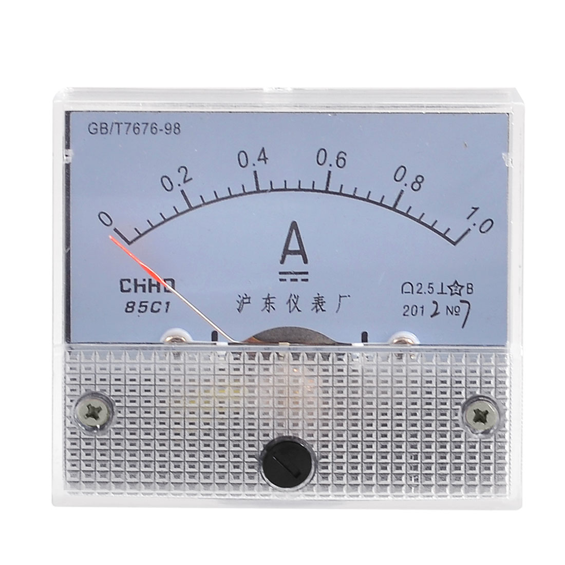 Screw Mounted Class 2.5 Accuracy DC 0-1A Scale Analog Panel Meter