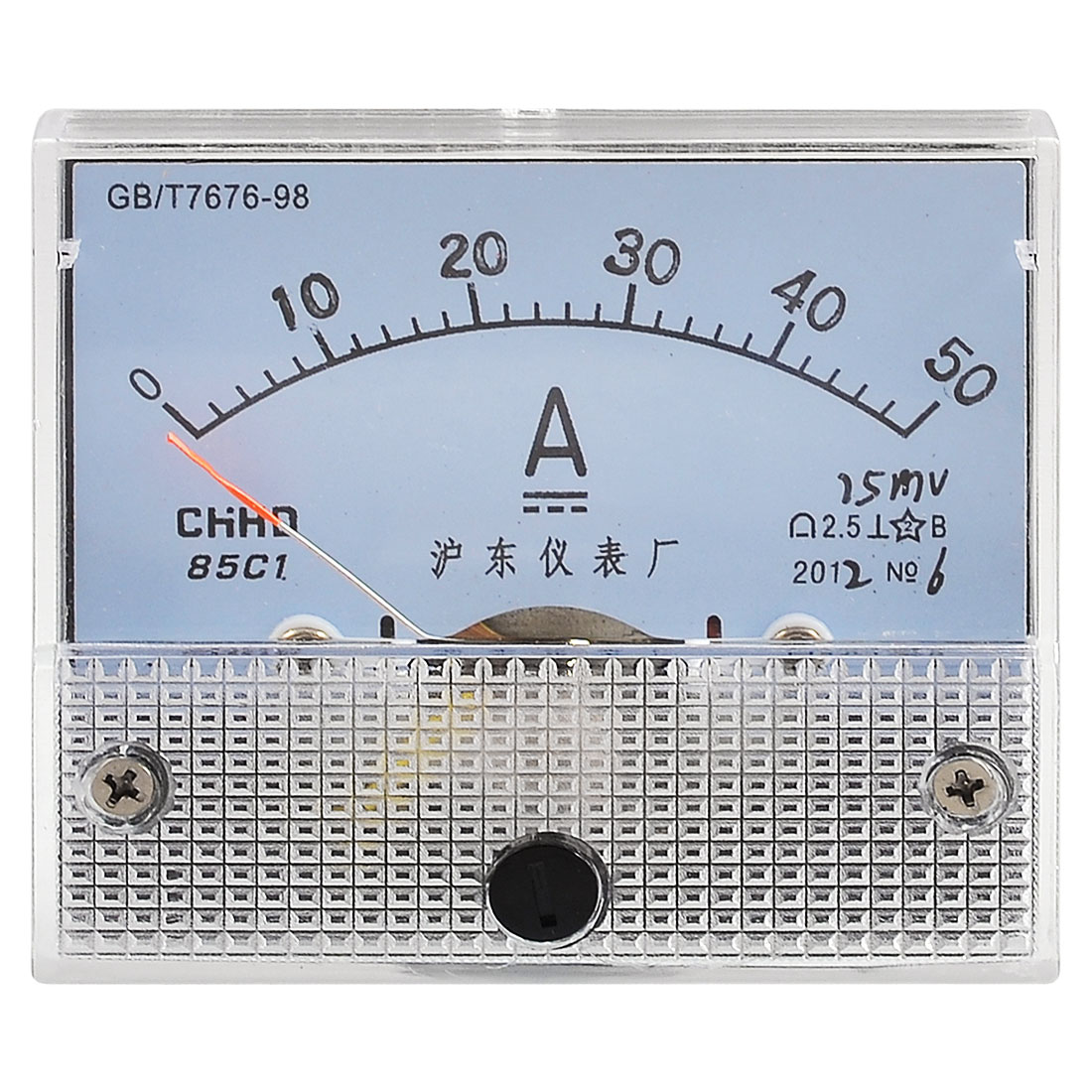 Screw Mounted Class 2.5 Accuracy DC 50A Analog Ammeter Panel Meter