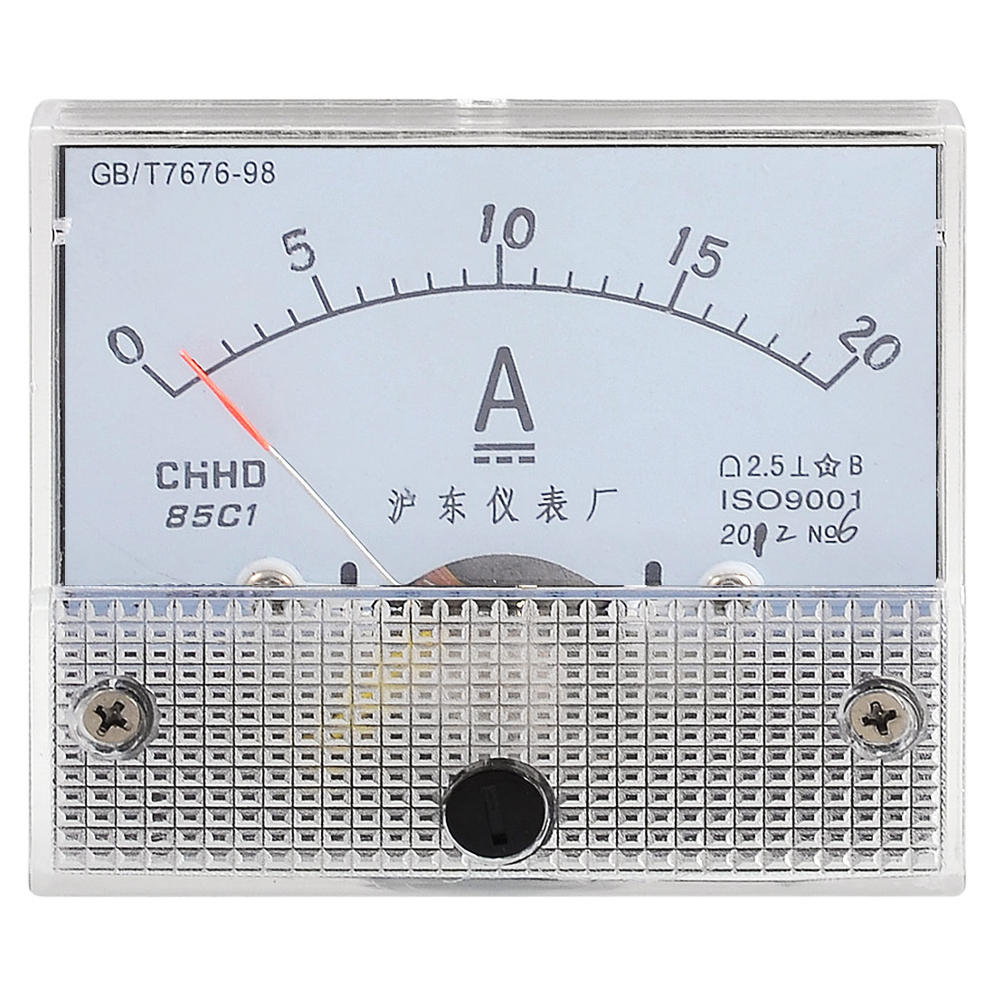 Screw Mounted DC 0-20A Current Testing Analog Ampere Panel Meter
