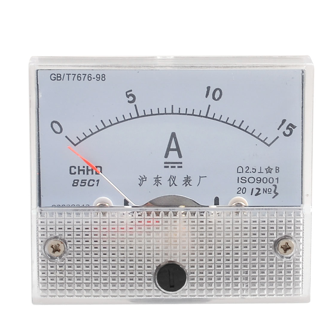 Class 2.5 Accuracy DC 15A Current Measuring Analog Ampere Panel Meter