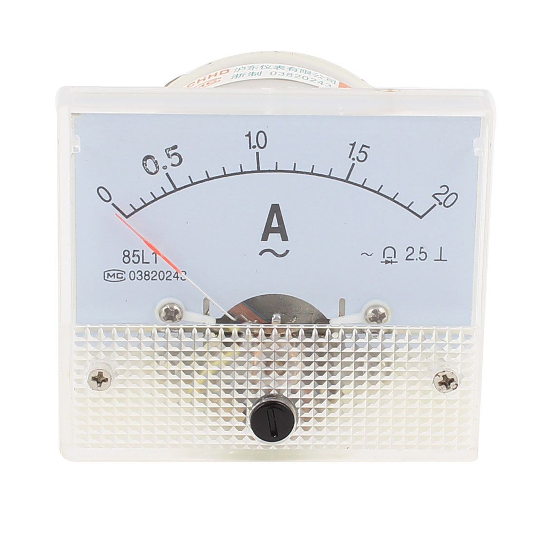 Screw Mounted Analog AC 0-2A Scale Range Ampere Ammeter Panel Meter