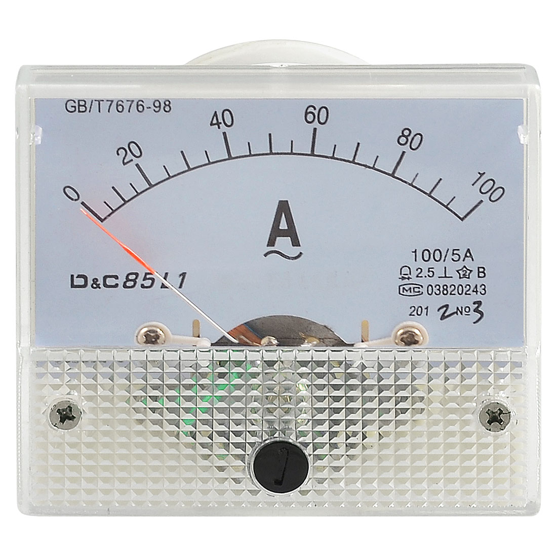 Class 2.5 Accuracy Analog AC 0-100A Scale Ampere Panel Meter Gauge