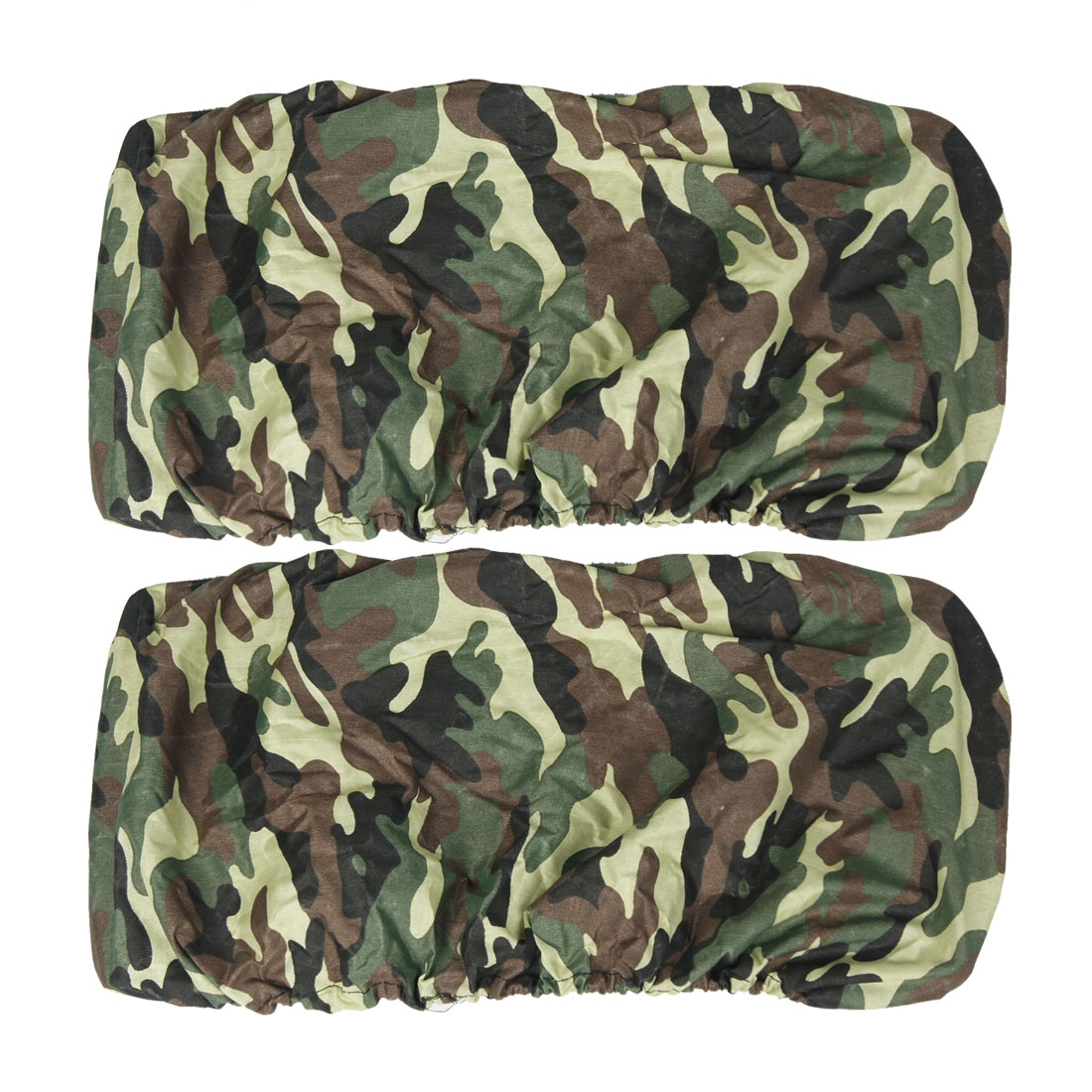 2 x Camouflage Pattern Elastic Trim Auto Car Licence Plate Covers