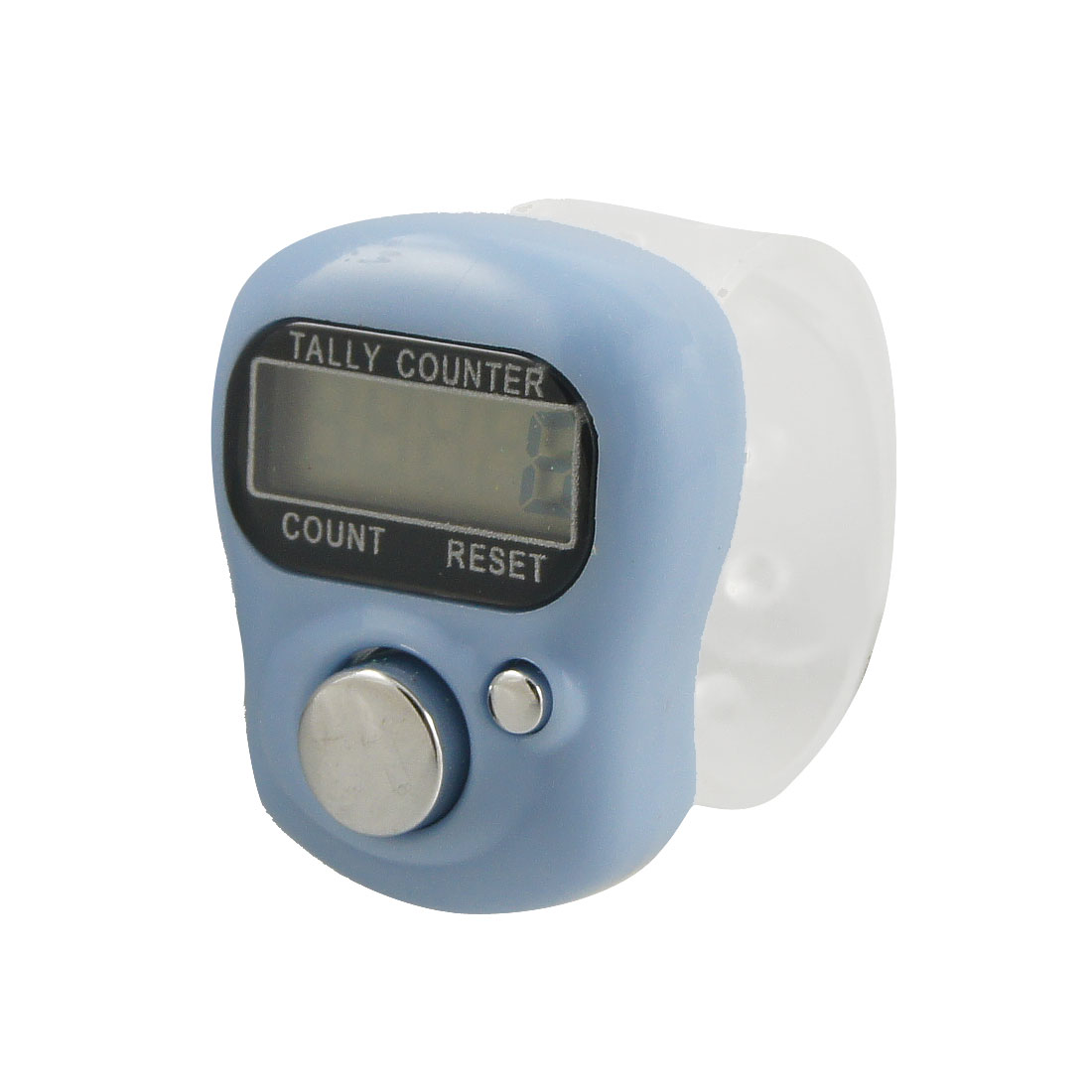 Light Blue Case 5 Digit LCD Electronic Finger Counter Hand Tally